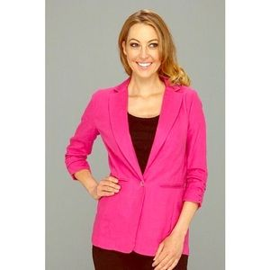 New Michael Kors Pink Linen Blazer 2